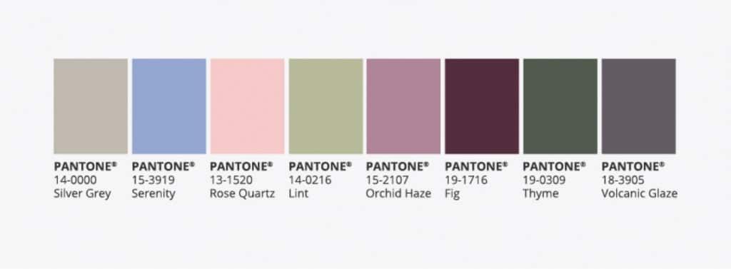 Autumn Pantone Colours